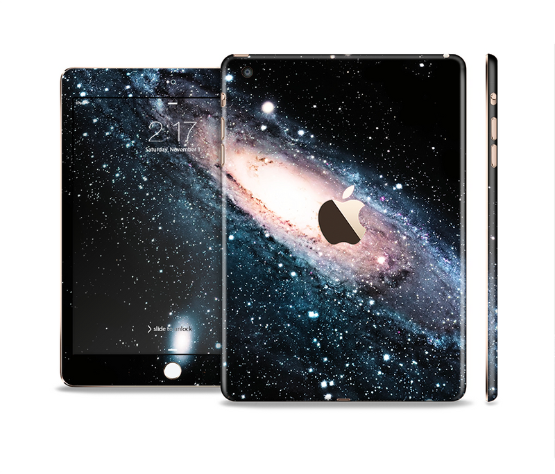 The Swirling Glowing Starry Galaxy Full Body Skin Set for the Apple iPad Mini 3