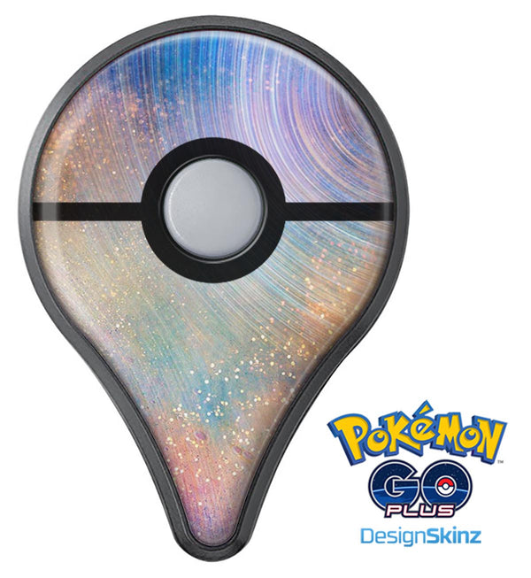 The Swirling Tie-Dye Scratched Surface Pokémon GO Plus Vinyl Protective Decal Skin Kit