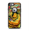 The Swirly Abstract Golden Surface Apple iPhone 6 Otterbox Defender Case Skin Set