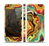 The Swirly Abstract Golden Surface Skin Set for the Apple iPhone 5