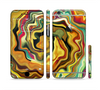 The Swirly Abstract Golden Surface Sectioned Skin Series for the Apple iPhone 6
