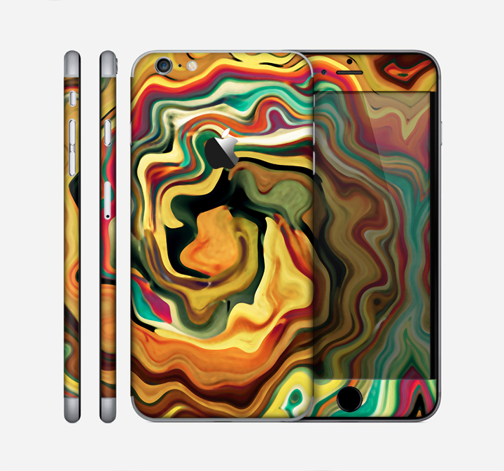 The Swirly Abstract Golden Surface Skin for the Apple iPhone 6 Plus
