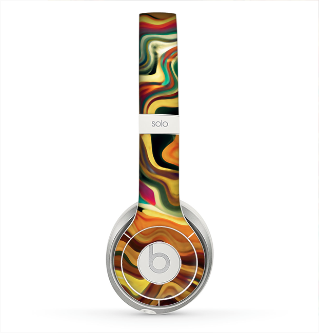 The Swirly Abstract Golden Surface Skin for the Beats by Dre Solo 2 Headphones