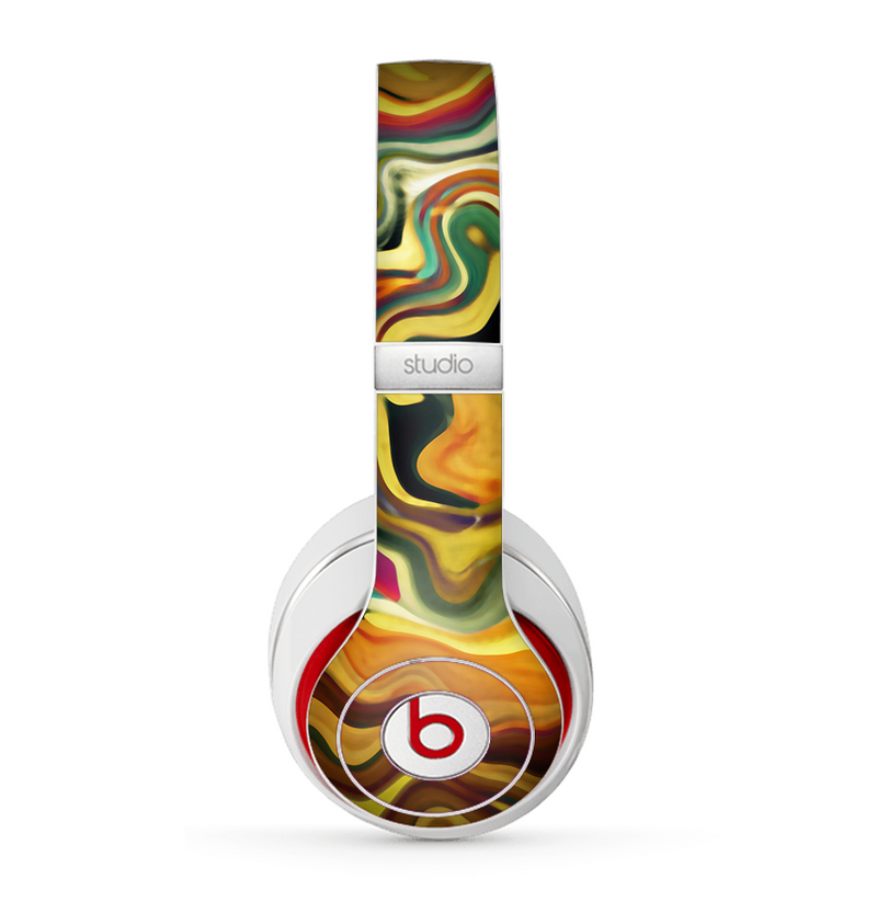 The Swirly Abstract Golden Surface Skin for the Beats by Dre Studio (2013+ Version) Headphones