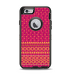 The Tall Pink & Orange Vintage Pattern Apple iPhone 6 Otterbox Defender Case Skin Set