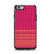 The Tall Pink & Orange Vintage Pattern Apple iPhone 6 Otterbox Symmetry Case Skin Set