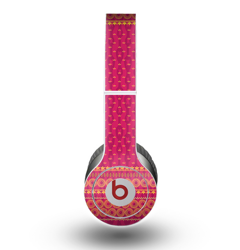 The Tall Pink & Orange Vintage Pattern Skin for the Beats by Dre Original Solo-Solo HD Headphones