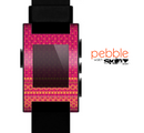 The Tall Pink & Orange Floral Vector Pattern Skin for the Pebble SmartWatch