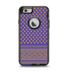 The Tall Purple & Orange Vintage Pattern Apple iPhone 6 Otterbox Defender Case Skin Set