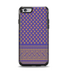 The Tall Purple & Orange Vintage Pattern Apple iPhone 6 Otterbox Symmetry Case Skin Set