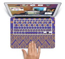 "The Tall Purple & Orange Vintage Pattern Skin Set for the Apple MacBook Pro 15"" with Retina Display"