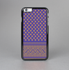 The Tall Purple & Orange Vintage Pattern Skin-Sert Case for the Apple iPhone 6 Plus