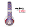 The Tall Purple & Orange Vintage Pattern Skin for the Beats by Dre Studio Wireless Headphones