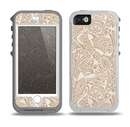 The Tan Abstract Vector Pattern Skin for the iPhone 5-5s OtterBox Preserver WaterProof Case