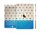 The Tan & Blue Polka Dotted Pattern Full Body Skin Set for the Apple iPad Mini 3