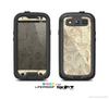 The Tan & Brown Floral Laced Pattern Skin For The Samsung Galaxy S3 LifeProof Case