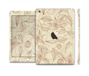 The Tan & Brown Floral Laced Pattern Full Body Skin Set for the Apple iPad Mini 3