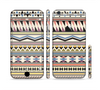The Tan & Color Aztec Pattern V32 Sectioned Skin Series for the Apple iPhone 6