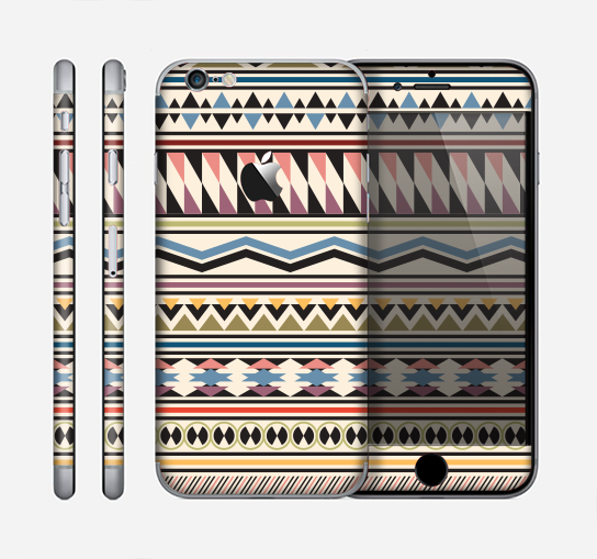 The Tan & Color Aztec Pattern V32 Skin for the Apple iPhone 6