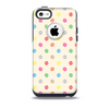 The Tan & Colored Laced Polka dots Skin for the iPhone 5c OtterBox Commuter Case