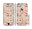 The Tan Colorful Hipster Icons Sectioned Skin Series for the Apple iPhone 6s