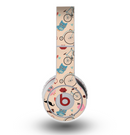 The Tan Colorful Hipster Icons Skin for the Original Beats by Dre Wireless Headphones