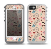 The Tan Colorful Hipster Icons Skin for the iPhone 5-5s OtterBox Preserver WaterProof Case