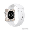 The Tan Highlighted Paisley Pattern Full-Body Skin Kit for the Apple Watch