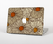 "The Tan & Orange Tipped Flowers Pattern Skin Set for the Apple MacBook Pro 15"" with Retina Display"