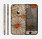 The Tan & Orange Tipped Flowers Pattern Skin for the Apple iPhone 6