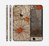 The Tan & Orange Tipped Flowers Pattern Skin for the Apple iPhone 6 Plus