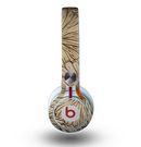 The Tan & Orange Tipped Flowers Pattern Skin for the Beats by Dre Mixr Headphones