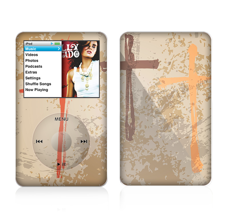 The Tan Splattered Color-Crosses Skin For The Apple iPod Classic