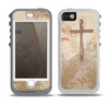 The Tan Splattered Color-Crosses Skin for the iPhone 5-5s OtterBox Preserver WaterProof Case