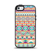 The Tan & Teal Aztec Pattern V4 Apple iPhone 5-5s Otterbox Symmetry Case Skin Set