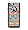 The Tan & Teal Aztec Pattern V4 Apple iPhone 6 Otterbox Commuter Case Skin Set