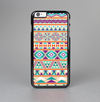 The Tan & Teal Aztec Pattern V4 Skin-Sert Case for the Apple iPhone 6 Plus