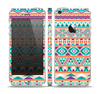 The Tan & Teal Aztec Pattern V4 Skin Set for the Apple iPhone 5