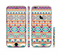 The Tan & Teal Aztec Pattern V4 Sectioned Skin Series for the Apple iPhone 6 Plus