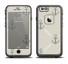 The Tan Vintage Solid Color Anchor Linked Apple iPhone 6 LifeProof Fre Case Skin Set