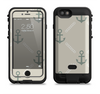 the tan vintage solid color anchor linked  iPhone 6/6s Plus LifeProof Fre POWER Case Skin Kit