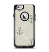 The Tan Vintage Solid Color Anchor Linked Apple iPhone 6 Otterbox Commuter Case Skin Set