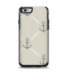 The Tan Vintage Solid Color Anchor Linked Apple iPhone 6 Otterbox Symmetry Case Skin Set