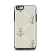 The Tan Vintage Solid Color Anchor Linked Apple iPhone 6 Plus Otterbox Symmetry Case Skin Set