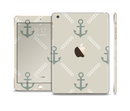 The Tan Vintage Solid Color Anchor Linked Full Body Skin Set for the Apple iPad Mini 3