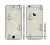 The Tan Vintage Solid Color Anchor Linked Sectioned Skin Series for the Apple iPhone 6 Plus