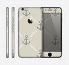 The Tan Vintage Solid Color Anchor Linked Skin for the Apple iPhone 6
