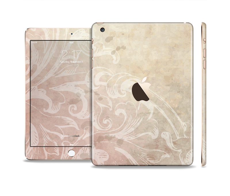 The Tan Vintage Subtle Laced Texture Full Body Skin Set for the Apple iPad Mini 3