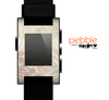 The Tan Vintage Subtle Laced Texture Skin for the Pebble SmartWatch