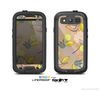 The Tan & Vintage Tan & Gold Vector Birds with Flowers Skin For The Samsung Galaxy S3 LifeProof Case